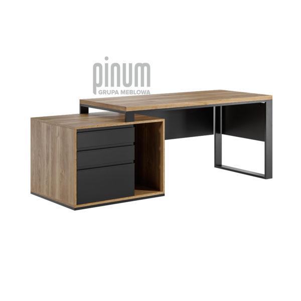 modne biurko z szufladami