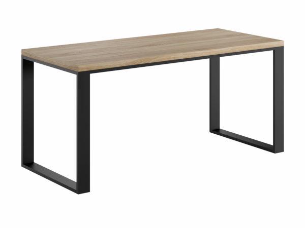 biurko z metalowymi nogami